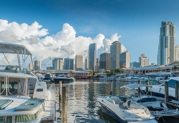 Miami Marina Bayside at downtown district